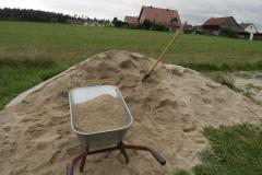 Nur ein kleiner Teil des Sandes