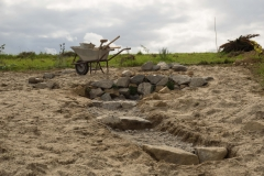 Sand eingearbeitet